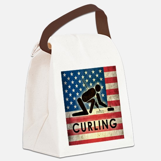 Grunge USA Curling Canvas Lunch Bag