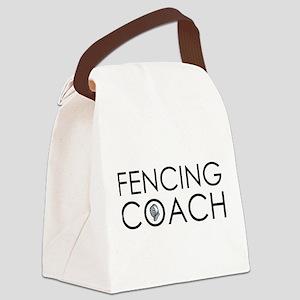 Fencing Coach Canvas Lunch Bag