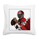 Football Players Square Canvas Pillow