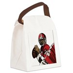 Football Players Canvas Lunch Bag