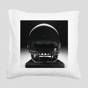 Football Helmet Square Canvas Pillow