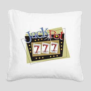 Jackpot 777 Square Canvas Pillow