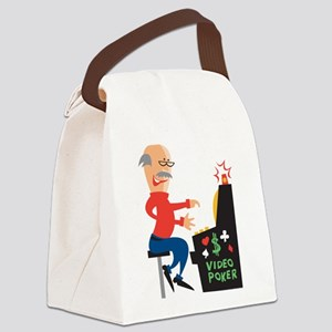 Video Poker Canvas Lunch Bag
