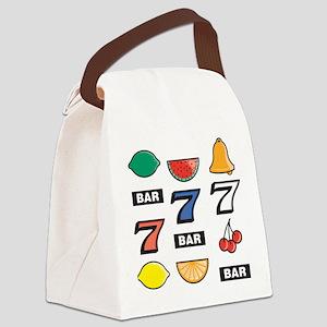 Slot Machine Canvas Lunch Bag