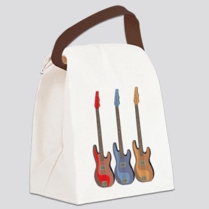 Guitars Canvas Lunch Bag