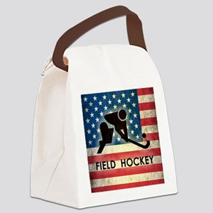 Grunge USA Field Hockey Canvas Lunch Bag