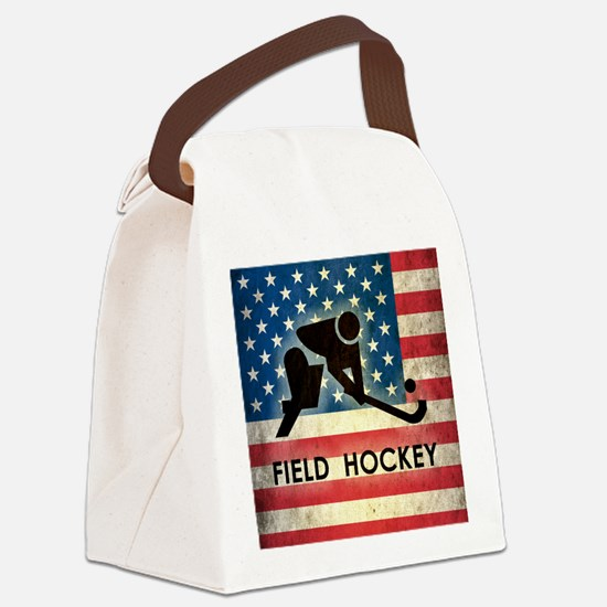 Grunge USA Field Hockey Canvas Lunch Bag