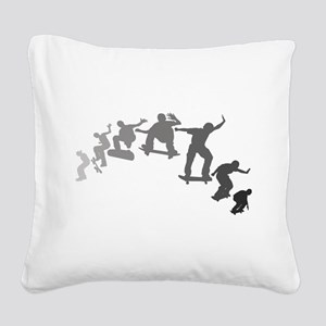 Skateboarding Square Canvas Pillow