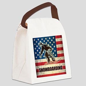 Grunge USA Snowboarding Canvas Lunch Bag