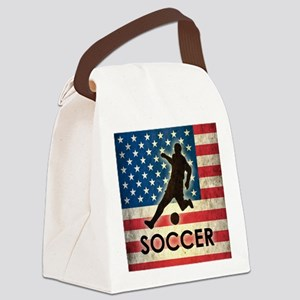 Grunge USA Soccer Canvas Lunch Bag