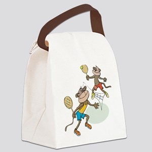 Monkey Tennis Canvas Lunch Bag