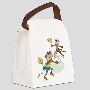 Monkey Tennis Canvas Lunch Bag