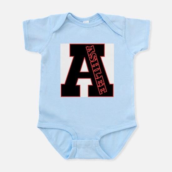 ASHLEE Letterman design Red/b Infant Creeper