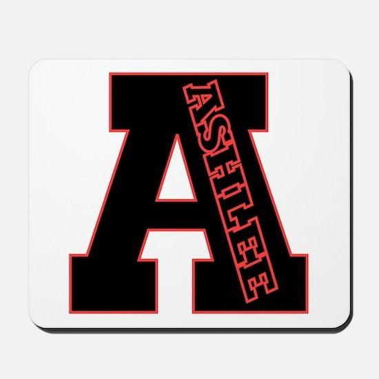 ASHLEE Letterman design Red/black Mousepad