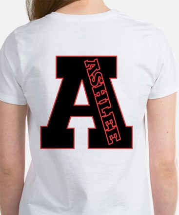 ASHLEE Letterman design Red/b Women's T-Shirt