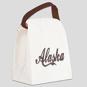 Vintage Alaska Canvas Lunch Bag