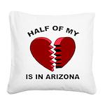 Heart In Arizona Square Canvas Pillow