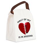 Heart In Arizona Canvas Lunch Bag