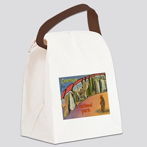 Los Angeles Flag Canvas Lunch Bag