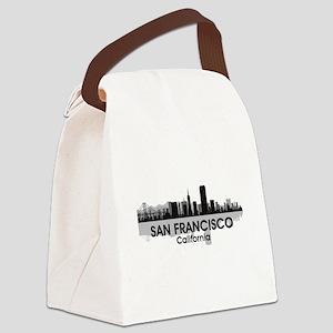 San Francisco Skyline Canvas Lunch Bag