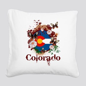 Butterfly Colorado Square Canvas Pillow