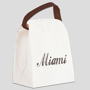 Vintage Miami Canvas Lunch Bag