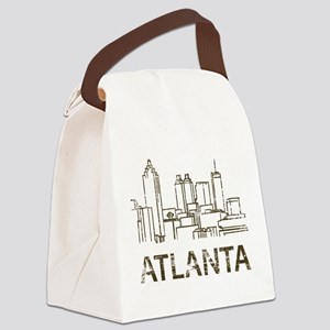 Vintage Atlanta Canvas Lunch Bag