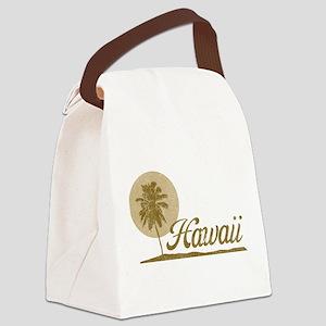 Palm Tree Hawaii Canvas Lunch Bag