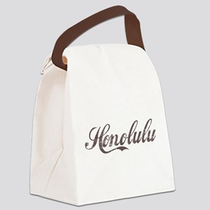 Vintage Honolulu Canvas Lunch Bag