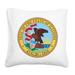 Illinois Seal Square Canvas Pillow