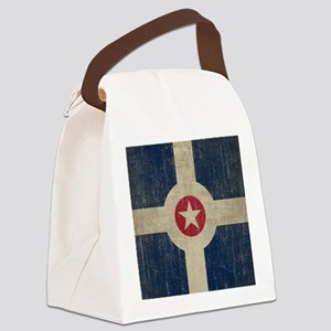 Vintage Indianapolis Flag Canvas Lunch Bag