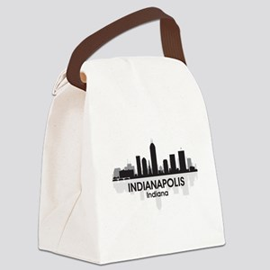 Indianapolis Skyline Canvas Lunch Bag