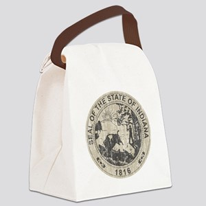Vintage Indiana Seal Canvas Lunch Bag