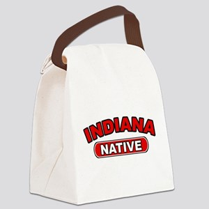 Indiana Native Canvas Lunch Bag