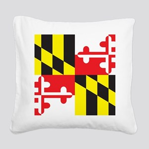 Maryland Flag Square Canvas Pillow