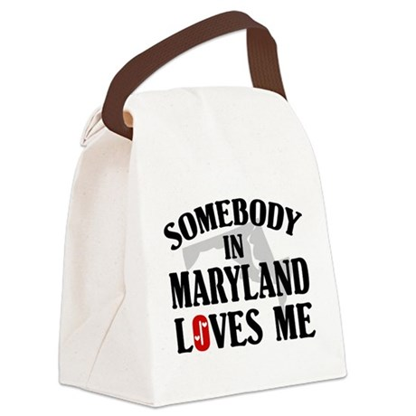 Somebody In Maryland Canvas Lunch Bag