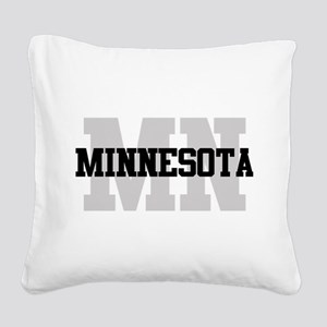 MN Minnesota Square Canvas Pillow