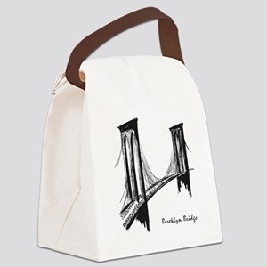 Brooklyn Bridge (Sketch) Canvas Lunch Bag