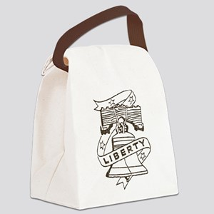 Vintage Liberty Bell Canvas Lunch Bag