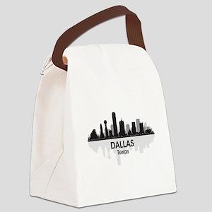 Dallas Skyline Canvas Lunch Bag