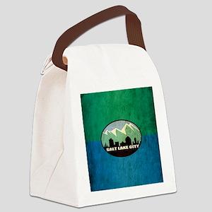 Vintage Salt Lake City Flag Canvas Lunch Bag
