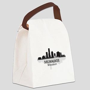 Milwaukee Skyline Canvas Lunch Bag