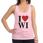 I Love Wisconsin Racerback Tank Top