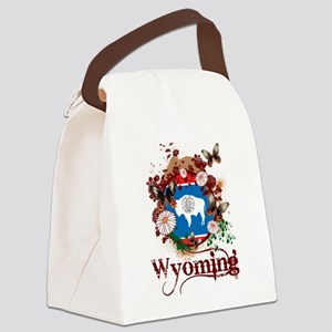 Butterfly Wyoming Canvas Lunch Bag