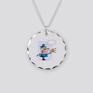 Police Necklace Circle Charm