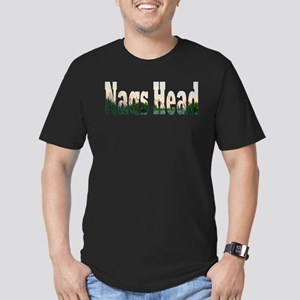 Nags Head Sunrise Over the Dunes Men's Fitted T-Sh