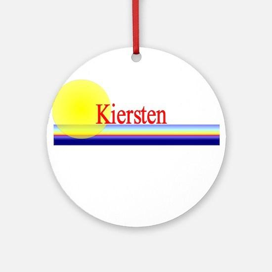 Kiersten Ornament (Round)