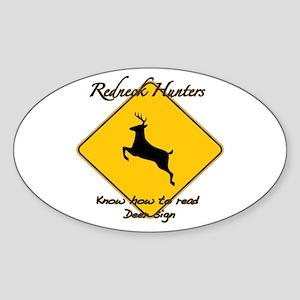 Redneck hunters Sticker (Oval)
