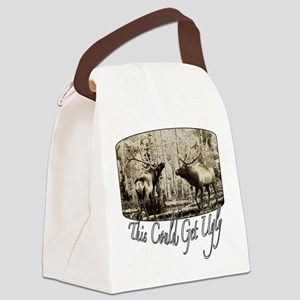 Elk rumble Canvas Lunch Bag