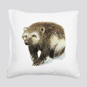 wolverine Square Canvas Pillow